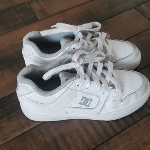 DC shoes, white leather. Kids size 2.